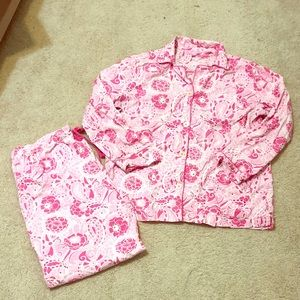 Lilly Pulitzer pink pajama set